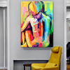Nude Girl Abstract Figure Framed Knife Effigy for Room Wall Decoration