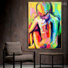 Nude Girl Abstract Figure Framed Knife Effigy for Room Wall Tracery