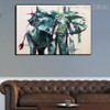 African Elephant Abstract Modern Animal Framed Handmade Oil Painting for Room Wall Onlay