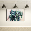 African Elephant Abstract Modern Animal Framed Handmade Oil Painting for Room Wall Assortment