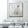 Sexual Girl Back Abstract Heavy Texture Framed Portmanteau for Wall Hanging Decor