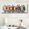 Colored Pencil Abstract Heavy Texture Framed Oil Painting on Canvas for Room Wall Getup