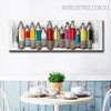 Colored Pencil Abstract Heavy Texture Framed Oil Painting on Canvas for Dining Room Wall Outfit