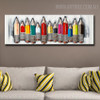 Colored Pencil Abstract Heavy Texture Framed Oil Painting on Canvas for Decorative Wall Art