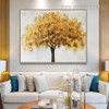 Golden Arbor Abstract Contemporary Framed Oil Painting on Canvas for Room Wall Embellishment