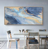 Smalt Abstract Acrylic Portraiture for Dining Room Wall Assortment