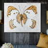 Gold Painted Lady Abstract Animal Framed Handmade Canvas Art for Room Wall Finery