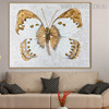 Gold Painted Lady Abstract Animal Framed Handmade Canvas Art for Wall Decoration