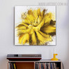 Marigold Abstract Botanical Framed Smudge for Room Wall Garnish