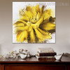 Marigold Abstract Botanical Framed Smudge for Room Wall Embellishment