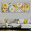 Floral Plant Abstract Floral Panoramic Framed Portmanteau for Wall Hanging Decor