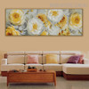 Floral Plant Abstract Floral Panoramic Framed Portmanteau for Interior Decoration