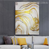 Marble Design Modern Abstract Framed Painting for Room Wall Outfit