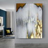 Golden Gray Modern Abstract Framed Painting for Room Wall Getup