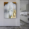 Golden Gray Modern Abstract Framed Painting for Living Room Wall Assortment