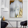 Golden Gray Modern Abstract Framed Painting for Room Wall Decoration
