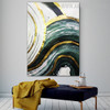 Curved Brush Effect Modern Abstract Framed Painting for Room Wall Decoration
