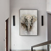 Wild Elephant Animal Modern Knife Painting for Room Wall Getup