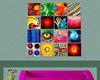 colorful eye & hands artwork