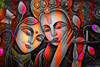 Lord Radha Krishna & Butterfly