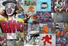 Double Face Graffiti Street Art Collage