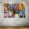 Colorful Alphabets Graffiti Collage