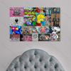 Blind Fold Man Urban Graffiti Collage