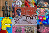 Simpson Urban Graffiti Collage