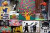 PRESS Graffiti Street Art Collage