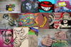 Banana Graffiti Street Art Collage