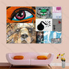 Eye Graffiti Street Art Collage