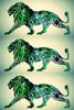 Green Lion Pop Art