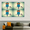 Blue Owl Pop Art Collage