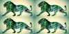 Green Hair Lion Art
