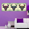 Colorful Bulls Face