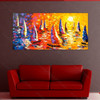 Boat Pattern Knife Painting