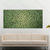 Green Texture Leaf Painting