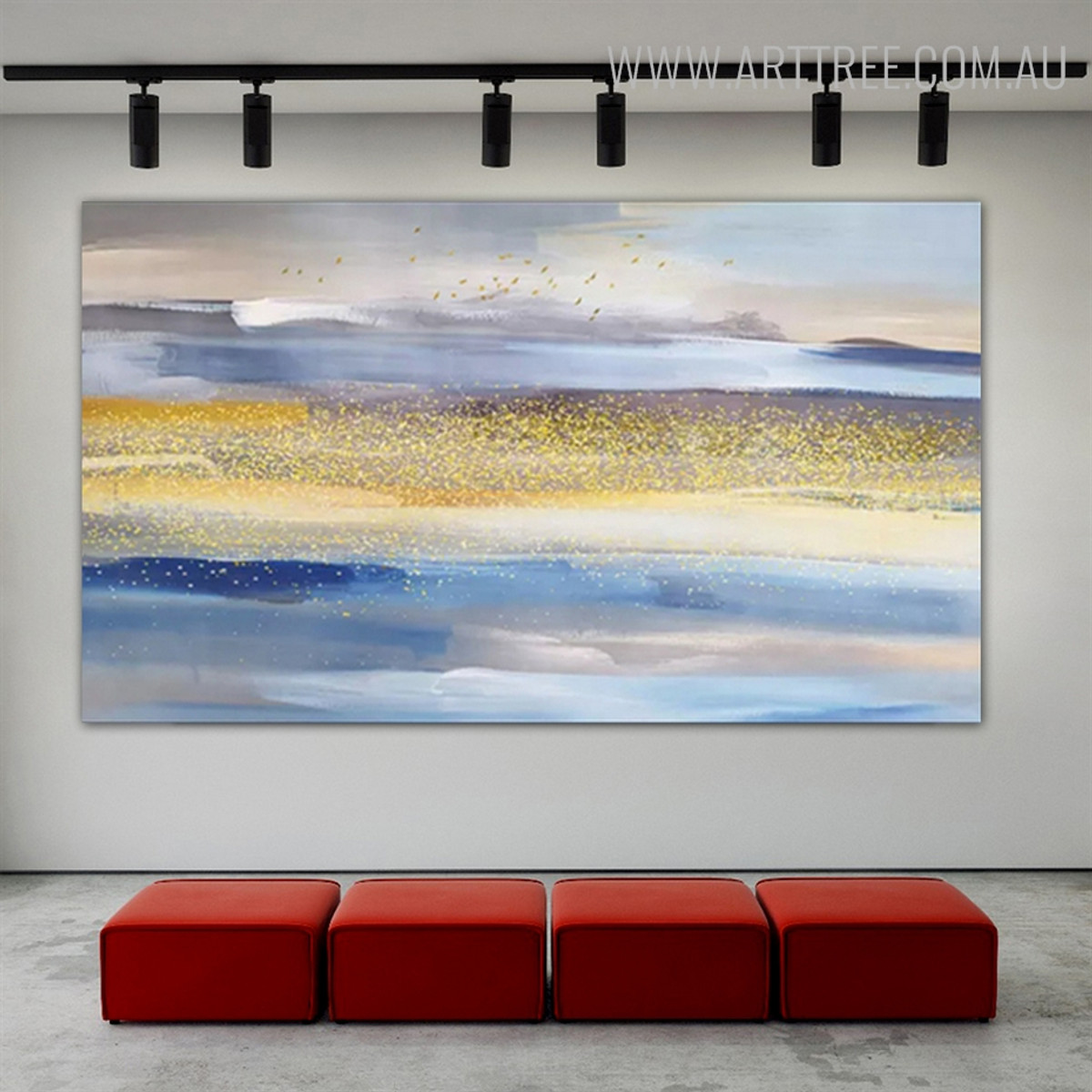 Golden Heaven Abstract Framed Heavy Texture Handmade Oil Effigy for Living Room Outfit