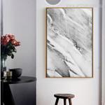 Abstract Grey Marble Wall Art