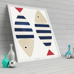 Cute Colorful Fishes Nursery Wall Art