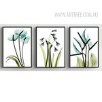 Transparent Bird of Paradise Common Bluebell Arum Lily Floral Art