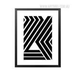 Black and White Abstract Lines Design Canvas Print