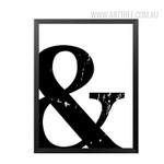 Black and White Ampercent Design Canvas Print