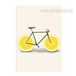 Creatively Lemon Fruit Bike Digital Canvas Art