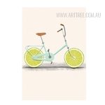 Creatively Lemon Fruit Bike Digital Canvas Wall Art Decor
