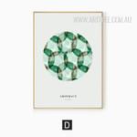 Abstract Watercolor Green Make A Dream Design Digital Print