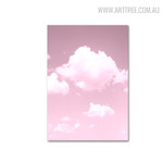 Pink Skyscape Painting Canvas Print