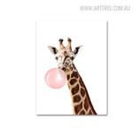 Bubble Giraffe Animal Wall Artwork