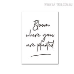 Bloom Quotes Wall Art Print