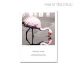Flamingo Bird Nordic Painting Print